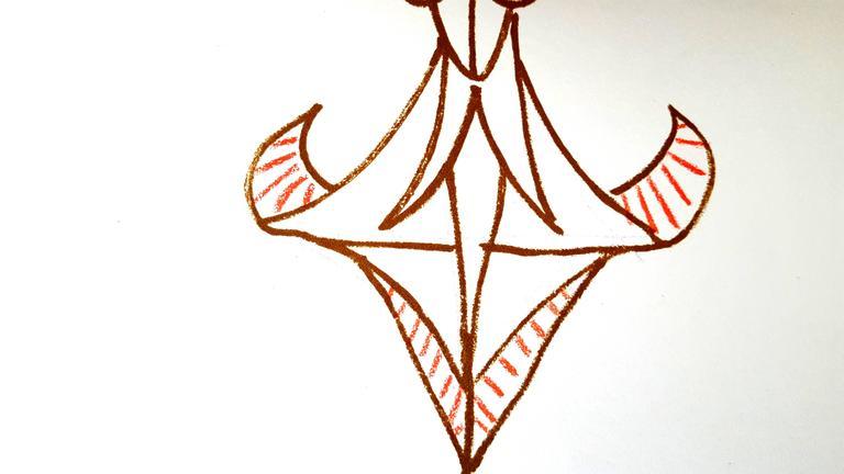 Jean Cocteau - Marine Mountains - Original Lithograph For Sale 5