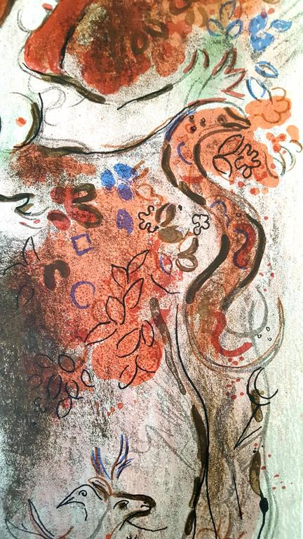 Marc Chagall - Marc Chagall - The Bible - Adam and Eve ... Chagallbijbel