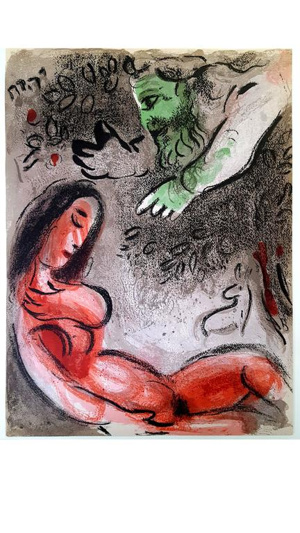 Marc Chagall - The Bible - Eve - Original Lithograph