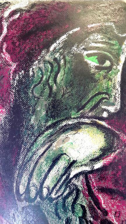 Marc Chagall - The Bible - Job - Original Lithograph - Modern Print by Marc Chagall