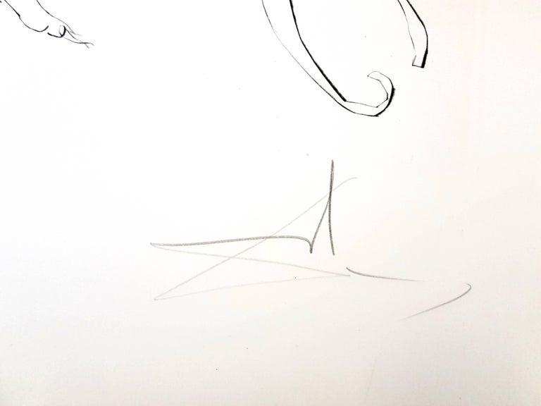 Salvador Dali -  Venus, Mars and Cupidon - Handsigned Etching - Surrealist Print by Salvador Dalí
