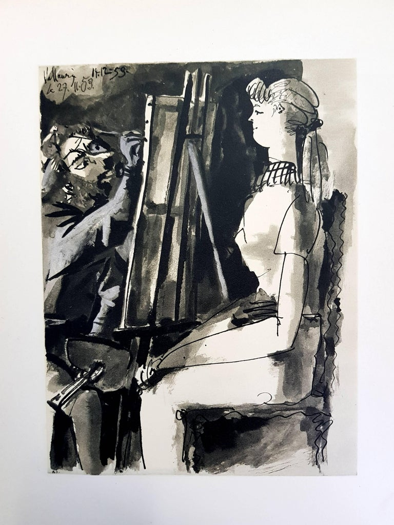 (after) Pablo Picasso Figurative Print - The Human Comedy - Lithograph