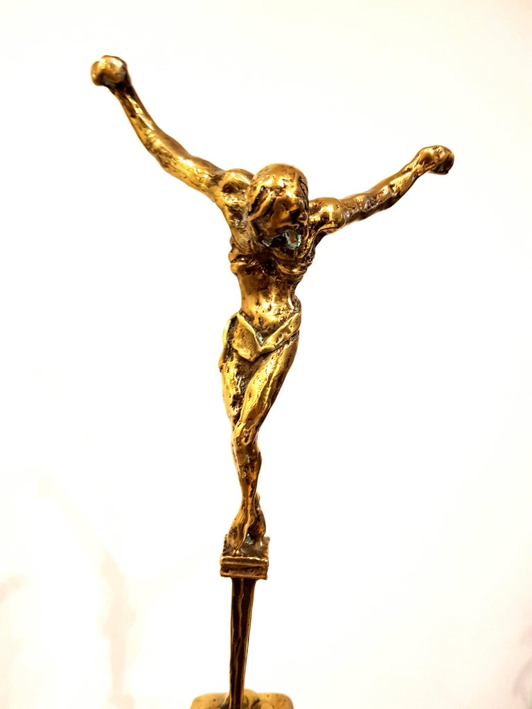 Salvador Dali - Guilded Sculpture - Christ de Saint Jean-de-la-Croix 7