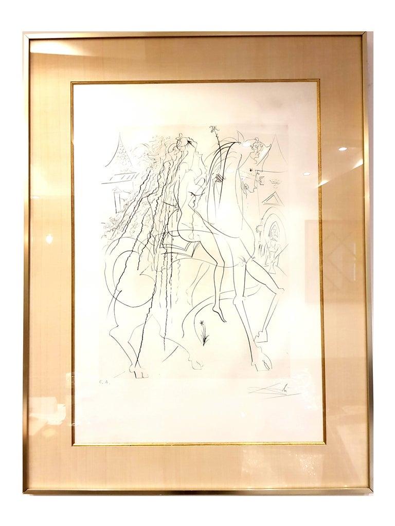 Salvador Dali - Lady Godiva - Original Handsigned Etching