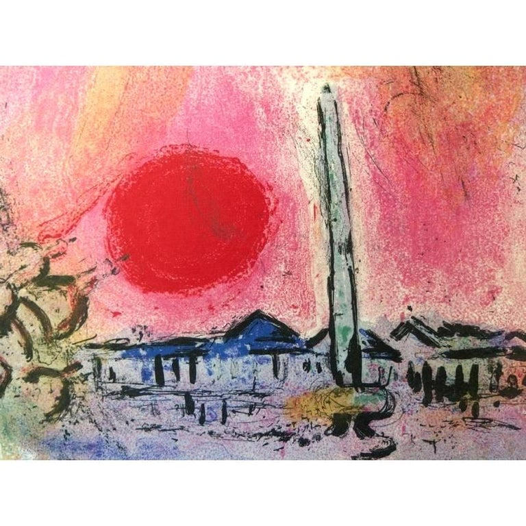 Marc Chagall - Concord's Place - Original Lithograph - Modern Print by Marc Chagall