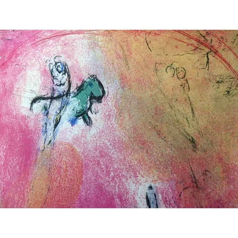 Marc Chagall - Concord's Place - Original Lithograph - Beige Figurative Print by Marc Chagall