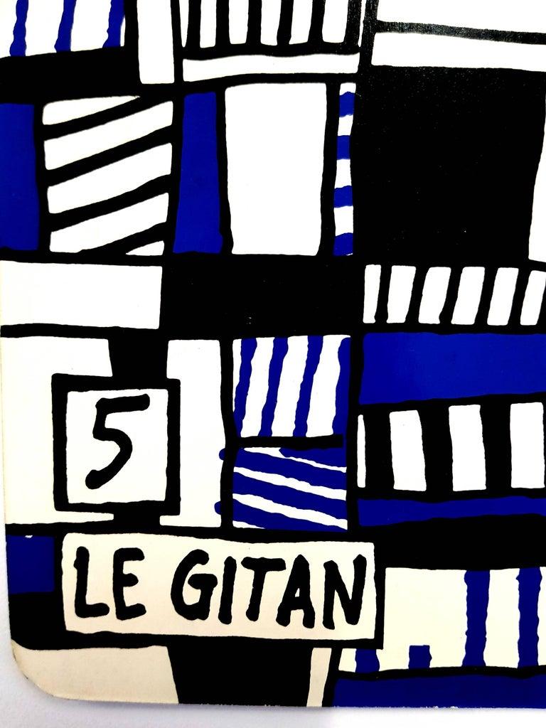 Jean Dubuffet - Le Gitan - Original Screenprint  For Sale 1