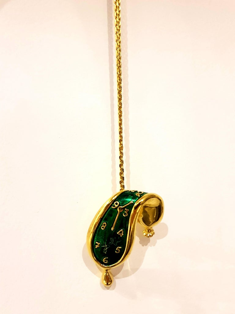 Salvador Dali - Melting Watch (Montre Molle) - Patinated Bronze Pendant