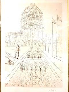 Salvador Dali - San Francisco - City Hall - Original Handsigned Etching