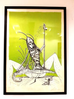 Salvador Dali - Les Songes Drolatiques - Handsigned Lithograph