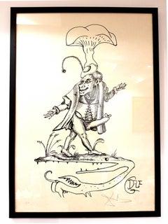 Salvador Dalí - Salvador Dali - Les Songes Drolatiques - Handsigned Lithograph