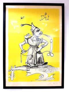 Salvador Dali - Les Songes Drolatiques - Handsigned Lithograph