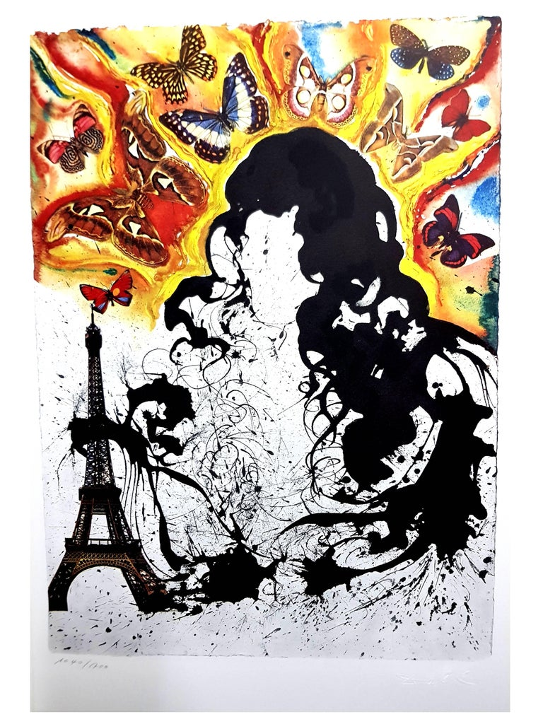 Salvador Dali - Paris - Lithograph