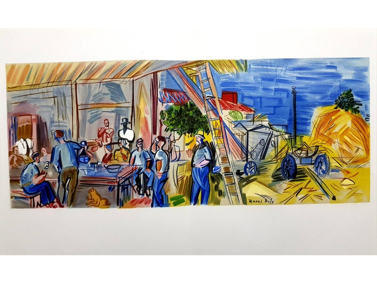"""(after) Raoul Dufy  Lithograph after a watercolor, published in the book """"Lettre à mon peintre Raoul Dufy."""" Paris, Librairie Académique Perrin, 1965. Printed signature Dimensions: 30 x 48 cm Condition : Excellent  Raoul Dufy Born in 1877, the"""