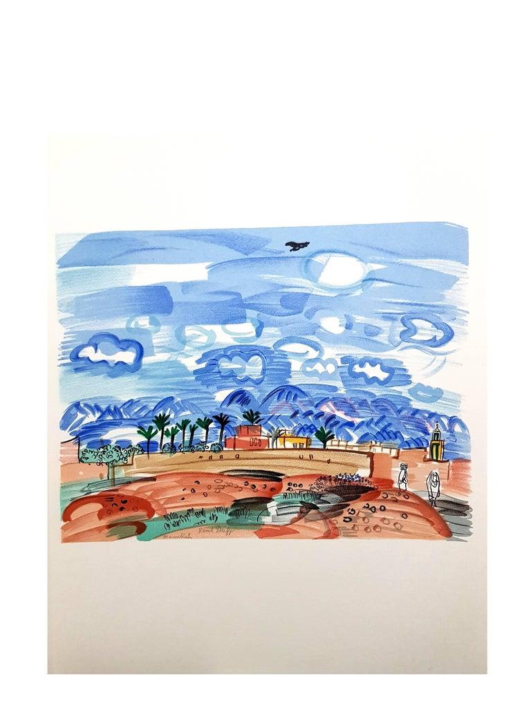 Raoul Dufy (after) - Landscape - Lithograph For Sale 1