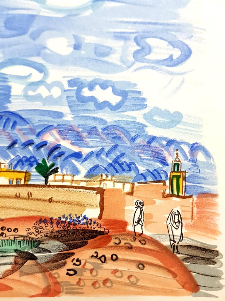 Raoul Dufy (after) - Landscape - Lithograph - Gray Animal Print by Raoul Dufy