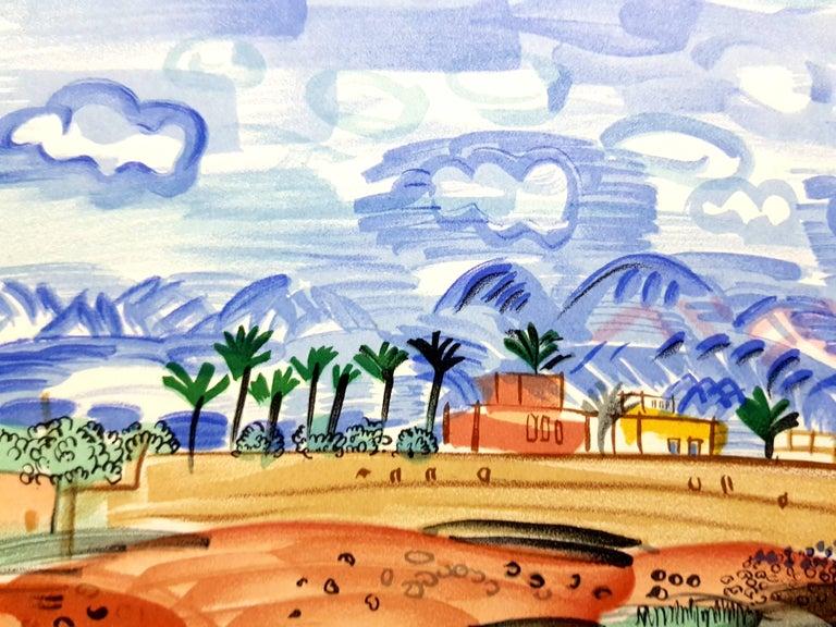 "(after) Raoul Dufy  Lithograph after a watercolor, published in the book ""Lettre à mon peintre Raoul Dufy."" Paris, Librairie Académique Perrin, 1965. Printed signature Dimensions: 30 x 24 cm Condition : Excellent  Raoul Dufy Born in"