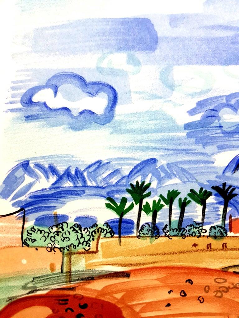 Raoul Dufy (after) - Landscape - Lithograph For Sale 2