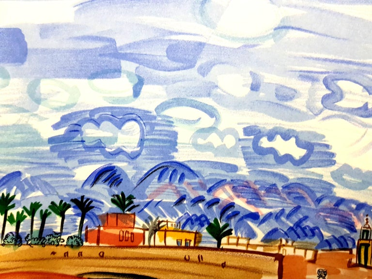 Raoul Dufy (after) - Landscape - Lithograph For Sale 3
