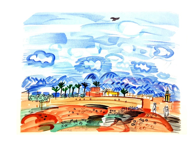 Raoul Dufy (after) - Landscape - Lithograph - Print by Raoul Dufy
