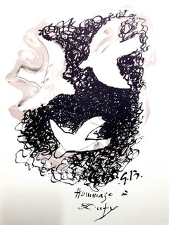 Georges Braque (after) - Homage to Dufy - Lithograph