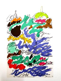 Charles Lapicque (after) - Homage to Dufy - Lithograph