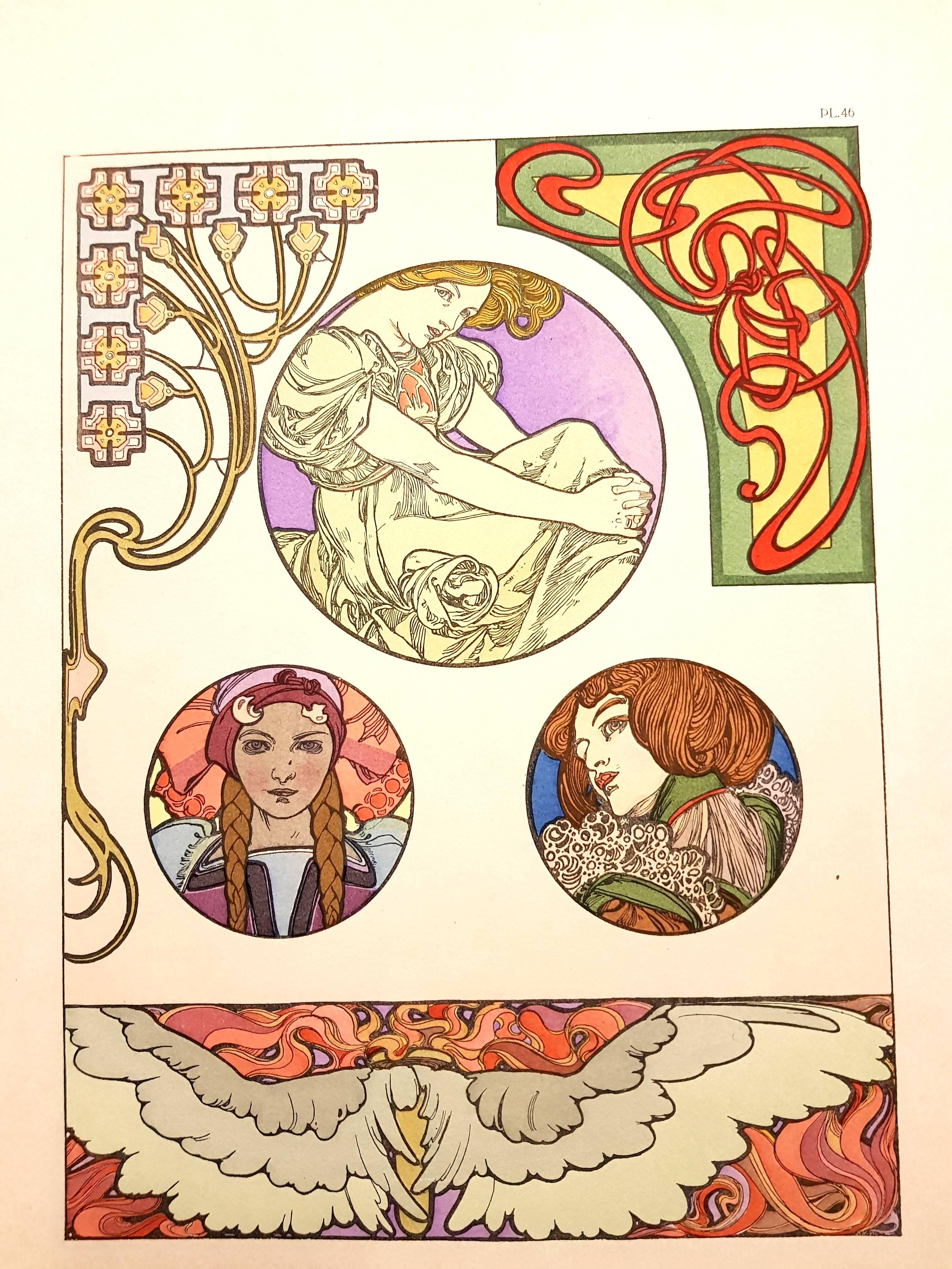 Alfons Mucha - Original Lithograph - Femmes Art Nouveau