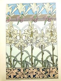 Alfons Mucha - Original Lithograph - Flowers