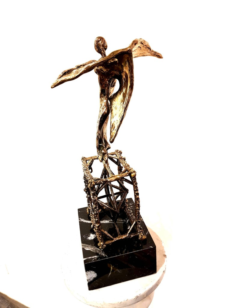 Salvador Dali - Original Bronze Sculpture Title: Flying Dimensions: 40 x 20 x 15 cm Signed Edition: 324/650  Salvador Dali  Salvador Dali was born as the son of a prestigious notary in the small town of Figueras in Northern Spain. His talent as an