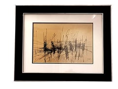 Jacques Germain -Untitled - Original Signed Ink