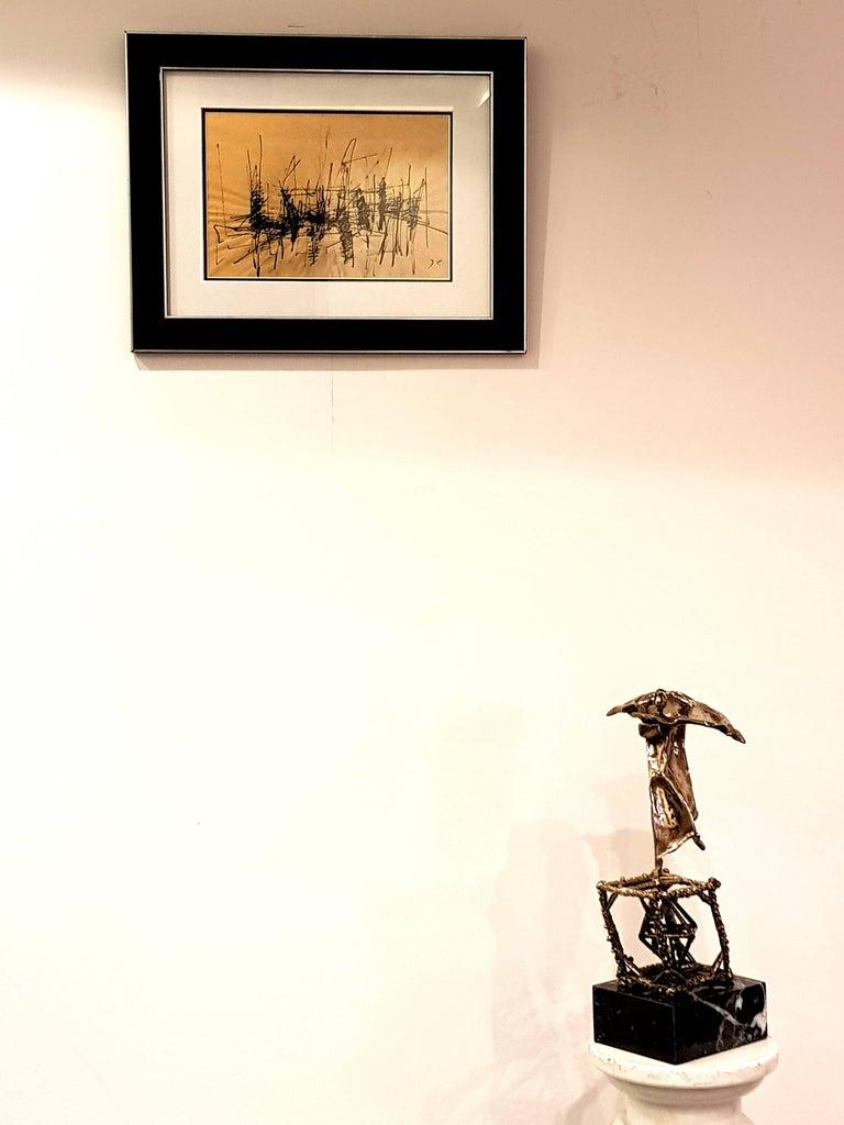 Jacques Germain -Untitled - Original Signed Ink For Sale 3
