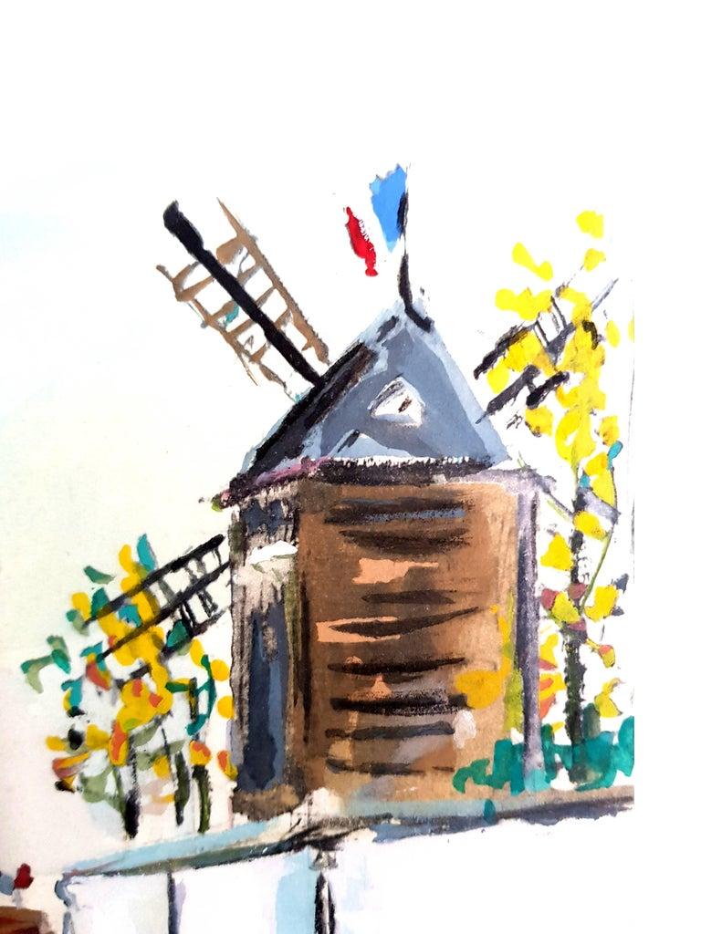 Inspired Village of Montmartre - Pochoir For Sale 4