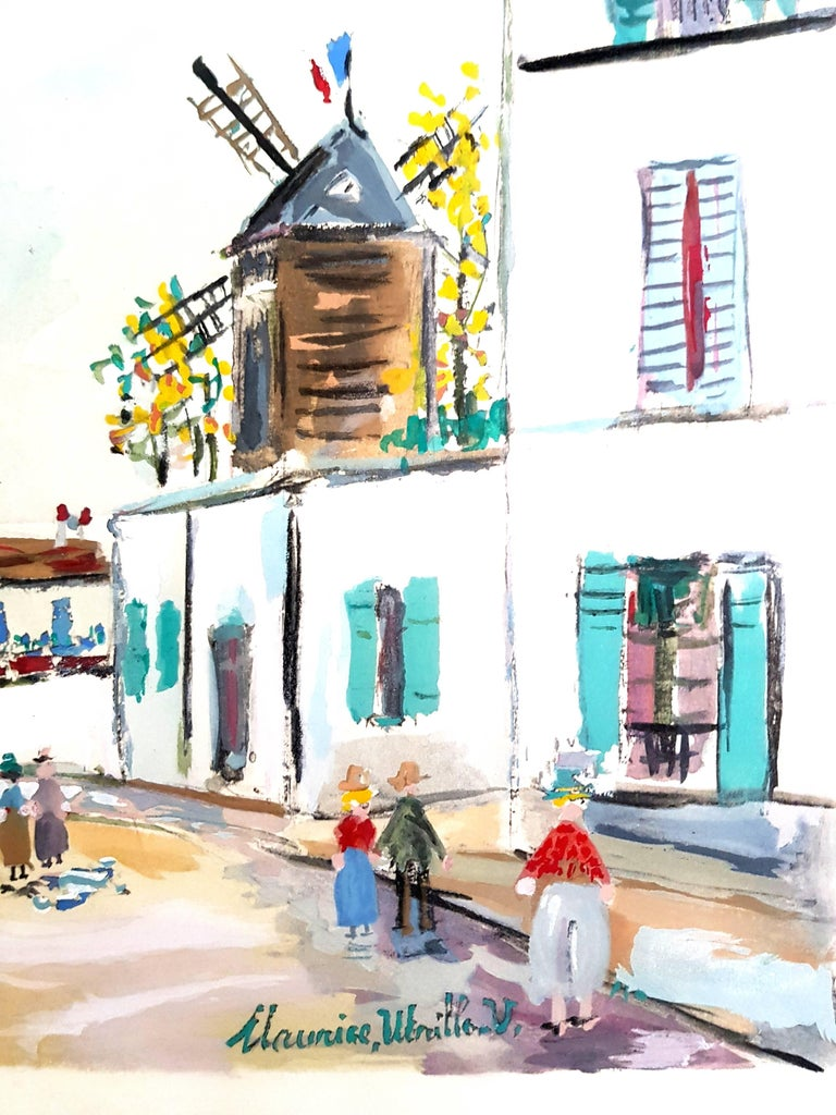 Inspired Village of Montmartre - Pochoir For Sale 1