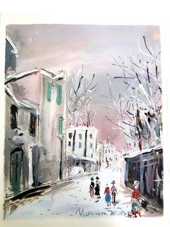 Inspired Village of Montmartre - Pochoir