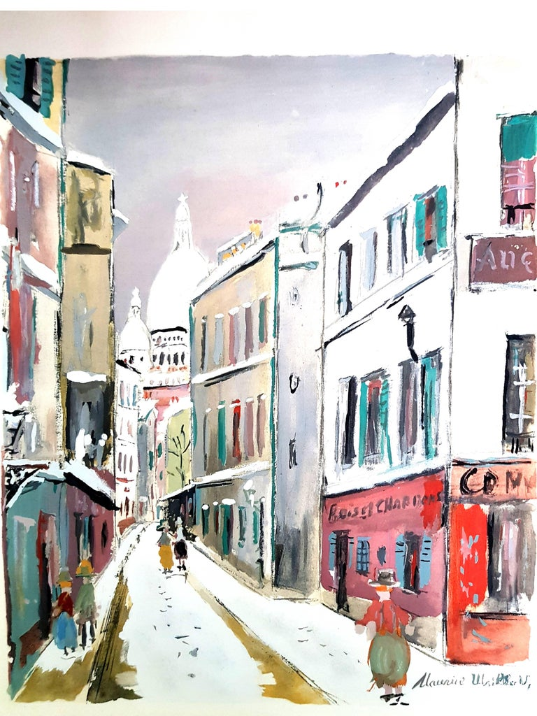 After maurice utrillo sacr coeur village of for Pochoir prints for sale