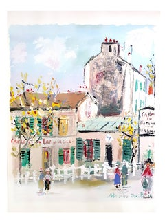Maurice Utrillo - Inspired Village of Montmartre - Pochoir