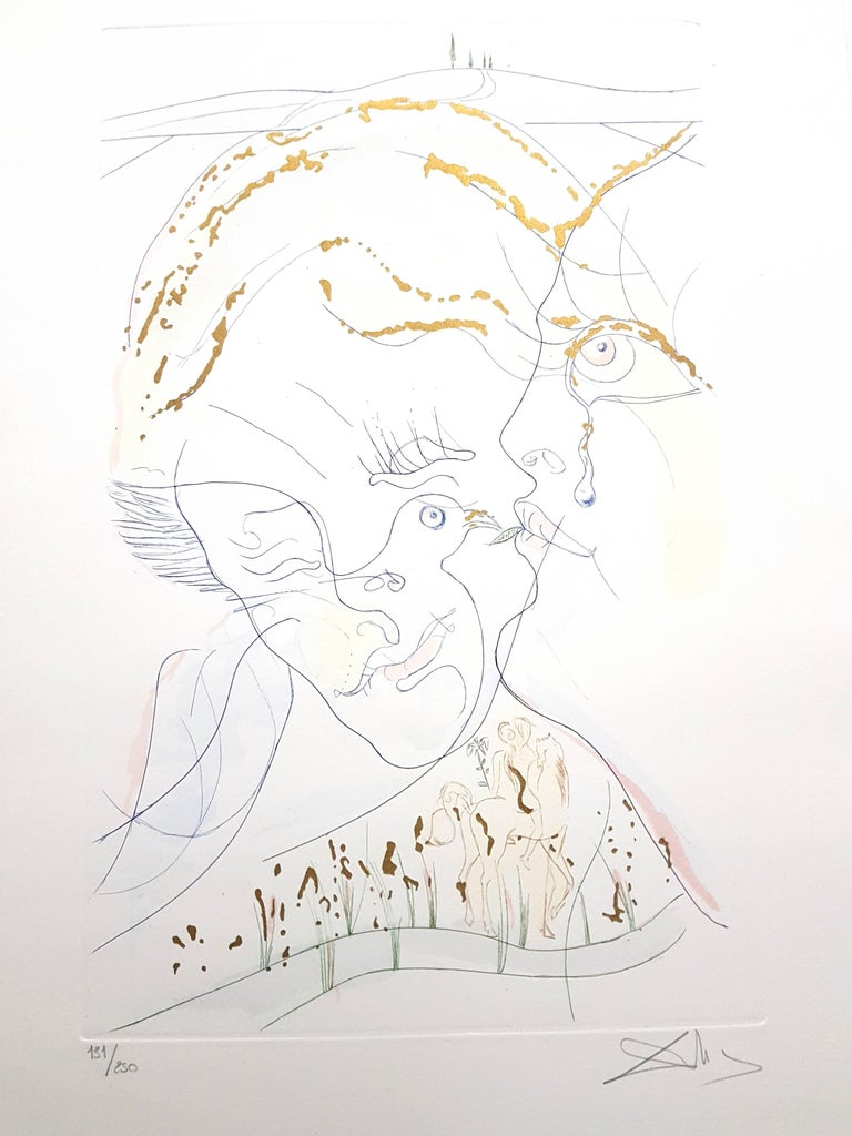 Salvador Dali - Dove Eyes - Signed Aquatint