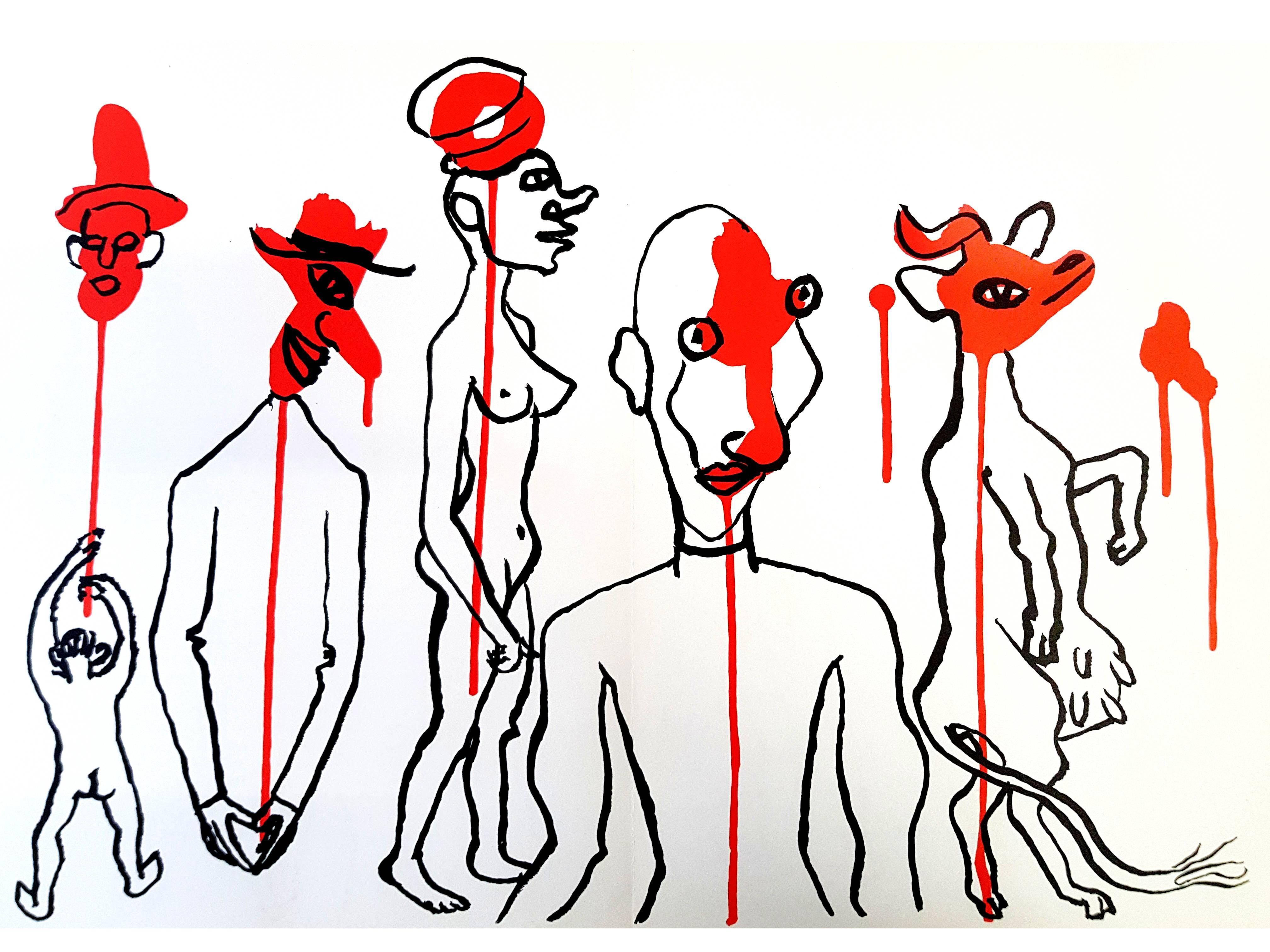 Alexander Calder - Original Lithograph - Behind the Mirror