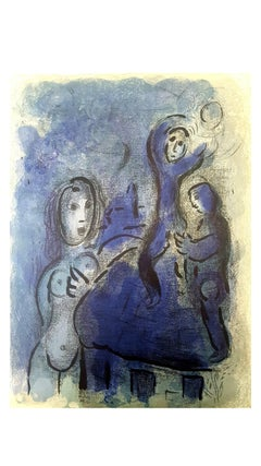 Marc Chagall - The Bible - Rahab and the Spies of Jericho - Original Lithograph