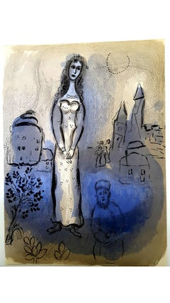Marc Chagall - The Bible - Esther - Original Lithograph