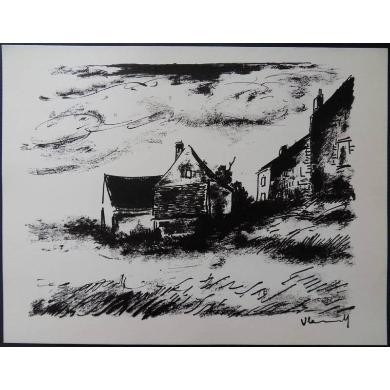 Maurice de Vlaminck - House in Rueil - Original Lithograph