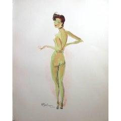 Domergue - Naked - Original Signed Lithograph