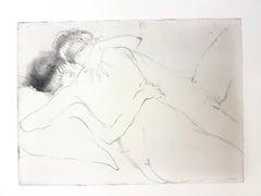 Jean Gabriel Domergue - The Hug - Original Etching