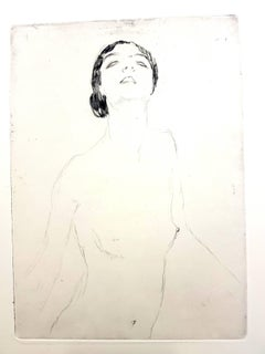 Jean Gabriel Domergue - Woman - Original Etching