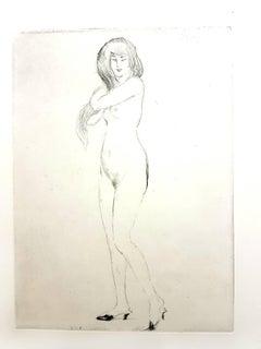 Jean Gabriel Domergue - Nonchalance - Original Etching