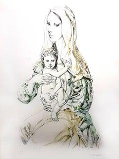 Leonard Foujita - Madonna with Child - Original Signed Lithograph