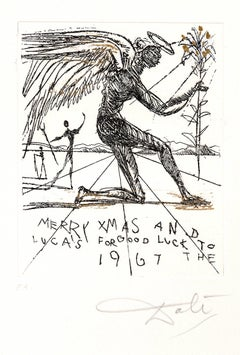 Salvador Dali - Merry Christmas - Original HandSigned Etching