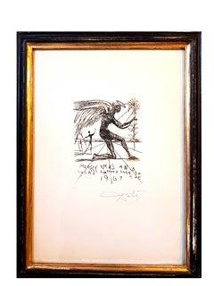 Salvador Dali - Merry Xmas - Original HandSigned Etching