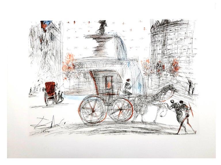 Salvador Dali - New-York: Plaza -  Lithograph