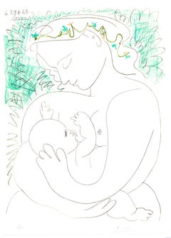 After Pablo Picasso - Handsigned Lithograph - Maternity